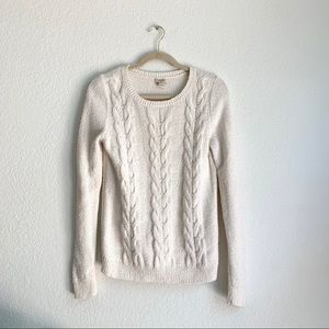 J. Crew Women's Textured Cable Knit Sweater Sz S